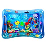 HEMRLY Tummy Time Baby Play Mat, Inflatable Splash Water Mat for Infant & Toddlers [BPA Free], Sensory Developmental Toys for Boy & Girl Newborn,Fun Infant Early Development Activity Centers