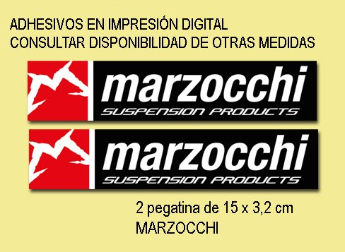 Ecoshirt 2R-BDSV-RJ42 Marzocchi Bike Fd126 Stickers Aufkleber Decals Autocollants Adesivi, weiß rot schwarz