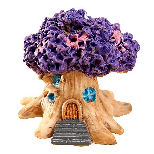 Huhuswwbin Decoración de jardín de Resina, Mini casa de Hadas en Miniatura para jardín,...
