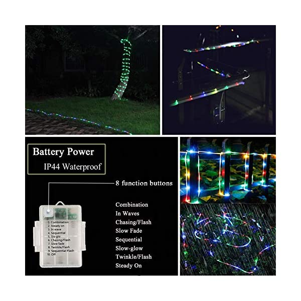 LED Fairy Rope String Lights - Liwiner USB Powered 33FT 100 LED String Light with Remote Timer 8 Mode Dimmable Strip… 3
