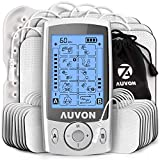 AUVON Dual Channel TENS Unit Muscle Stimulator (Family Pack), 20 Modes...