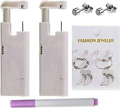 LIGHTONE 2 Pack New Generation Nose Piercing Kit, Disposable Self Ear Piercing Gun Kit, Painless Ear Piercing Kit with Fre...