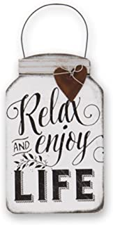 DG Shopping Spree Relax and Enjoy Life Mini Tin Mason Jar Sign