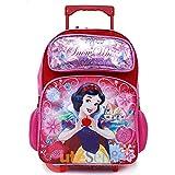 2018 Princess Snow White School Backpack 16' Roller Large Girls Book Bag