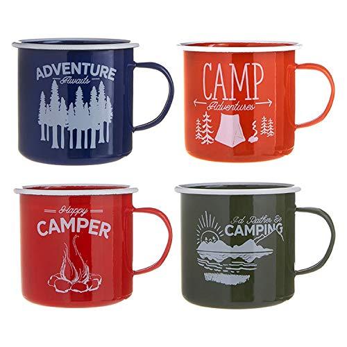 RAZ Imports Great Outdoors Campingbehälter, 14 cm, 4 Stück, schöne saisonale Dekoration für Ihr Zuhause