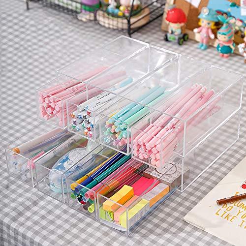 Portalapices,Botes para lapices,organizador escritorio transparente,Para oficina hogar escuela útiles escolares Organizador Escritorio,Gran capacidad a prueba de polvo fácil de limpiar multifuncional.