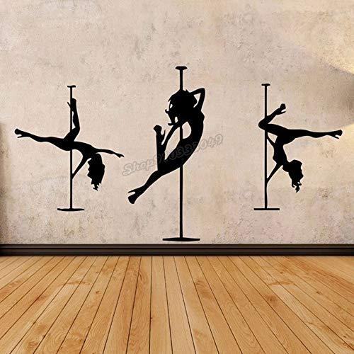 Vinilo decorativo silueta baile en barra