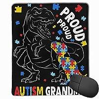 恐竜Tレックス自閉症意識洗える印刷されたスタイリッシュなオフィスゲームゲーミングマウスパッド