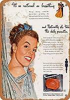 救命浮輪石鹸-ブリキのサインヴィンテージノベルティ面白い鉄の絵の金属板