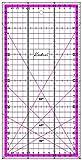 Regla para Patchwork 15x30 Rosa centímetros transparente y milimetrada - Kadusi