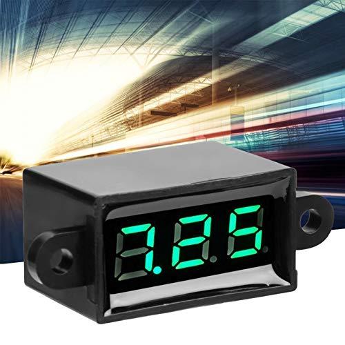 Shipenophy Pantalla LED sellada Voltímetro Digital de Dos Cables a Prueba de...