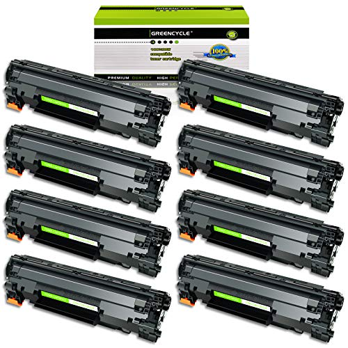 GREENCYCLE Toner Cartridge Replacement Compatible for Canon 126 CRG-126 CRG126 3483B001 use in ImageClass LBP6200d, and LBP6230dw Wireless Laser Printers (Black,8 PK)