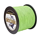 HERCULES Super Cast 1000M 1094 Yards Braided Fishing Line 30 LB Test for Saltwater Freshwater PE Braid Fish Lines Superline 8 Strands - Flourescent Green, 30LB (13.6KG), 0.28MM