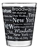 New York City Landmarks and Destinations Wrap Design Souvenir Shot Glass