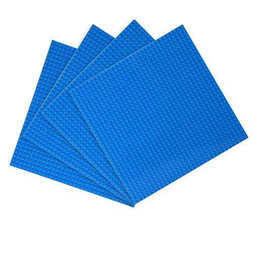 LVHERO 4 bases para Lego Classic compatible con la placa de base, juego de construcción, juegos creativos, juguetes educativos (azul)