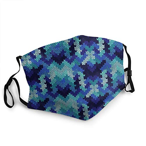 Preisvergleich Produktbild Miedhki Unisex Abstract Knitted Seamless Ornate Pattern 15 cm * 20 cm Mode Wiederverwendbare waschbare Outdoor-Unisex-Maske