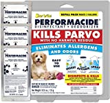 PERFORMACIDE No-Rinse Disinfectant / Deodorizer for Pet Surfaces | Kills Parvovirus, Ringworm, Feline Calicivirus, Avian Influenza (Bird Flu) Naturally Dissipates, 3 Gallon Eco-Friendly Refill Pouches