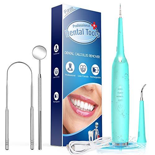 Pulizia Denti Pulisci Lingua Puliscilingua Pulizia Dentale Sbiancamento dei Denti kit Pulizia Denti Lingua e Denti Puliti Macchie di Denti Ostinati 3 Modalità 2 Teste Luce Led