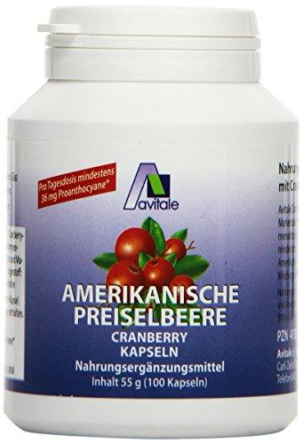 Avitale Preiselbeere amerikanisch 400 mg Kapseln, 100 Stück, 1er Pack (1 x 55 g)