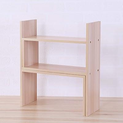 Apelila Simply Modern Multi Tiers Open Book Shelf Double Layers