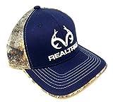 Realtree Antler Logo Mesh Trucker Blue & Camo Snapback Hat