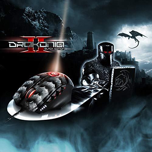 Sharkoon Drakonia II Gaming Maus, optischer Sensor PixArt 3360, 15.000 DPI, 12 programmierbare Tasten, schwarz - 7
