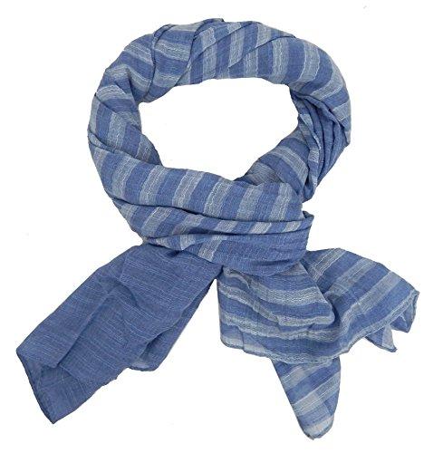 Ella Jonte Écharpes foulard d'homme élégant et tendance de la dernière collection by Casual-style bleu gris