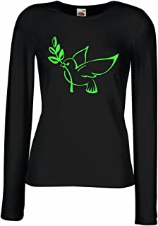 lepni.me Women's T-Shirt The Dove and Olive Branch - Symbols of Peace