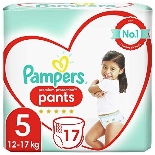 Pampers Premium Protection Pants Gr. 5 (11 – 18 kg) Unsere Nr. 1 für den Schutz empfindlicher Haut, leicht zu wechseln, 17 Schichten