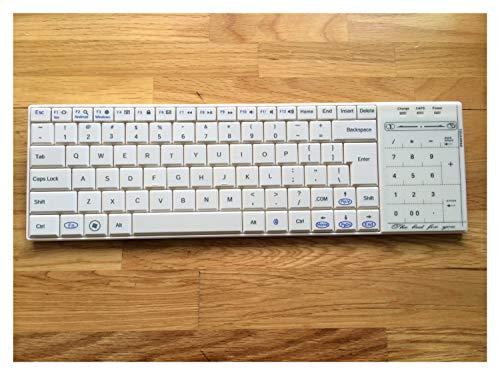 GeWu888 Teclado Teclado inalámbrico Bluetooth Teclado táctil del ratón inalámbrico de Tres 6PCS...
