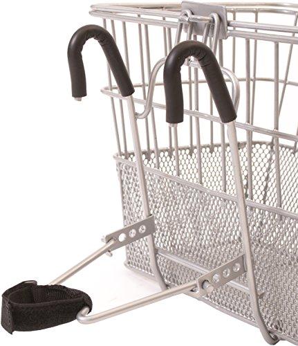 Retrospec Bicycles Detachable Steel Half-Mesh Apollo Bike Basket with Handles, Silver