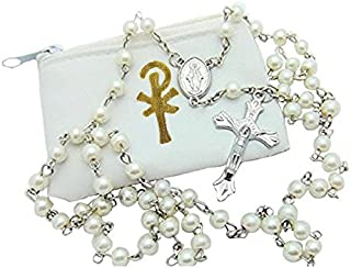 Best mens white gold rosary beads Reviews