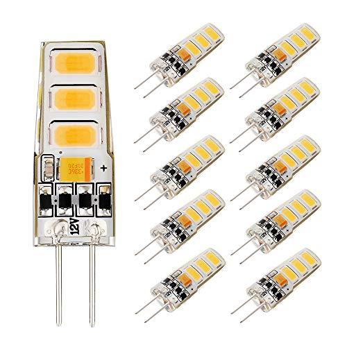 EKSAVE 2W G4 LED-Lampen warmweiß 150LM, Ersatz von 15W Halogenlampen, G4 Mini-Kapselbirnen (10 Stück, 3000K)