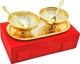 Tuzech Handmade Occasion Gifts Silver Gold Plated Unique Bowl Set
