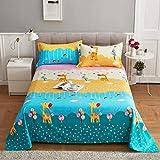 QIAOBAOBAO Hautfreundliche Bettwäsche für Doppel-Einzelwohnheim-Prairie Night_Sheets: 120 * 230 cm (für Ein 1-Meter-Bett)
