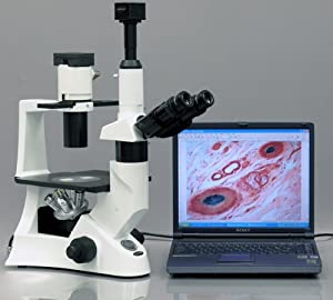 OMAX 40X-1600X Advanced Binocular Phase Contrast Compound Microscope with Interchangable Phase Contrast Kit and 5.0MP USB Camera