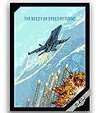 JYSHC Top Gun Film Poster Kunst Leinwand Wandkunst Bilder