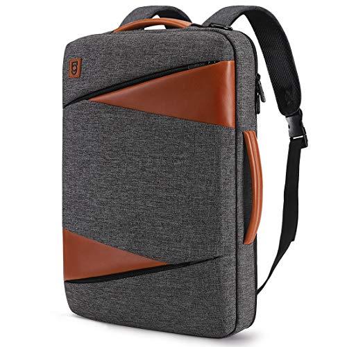 DM DomISO 15,6 Zoll Laptop-Rucksack, wasserdicht, Business-Tasche für Freizeit/Business/Schul/14 Lenovo/Microsoft/Dell/ASUS/HP/Acer,Dunkelgrau