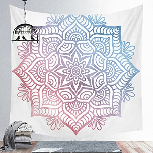 PPOU Fuwa Tacchi Mandala Grande Tapiz Indio Colgante de Pared Estera de Playa Bohemia Manta Fina de poliéster Manta de mantón de Yoga Manta A17 180x200cm