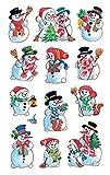 AVERY Zweckform Art. 52335 Aufkleber Weihnachten 36 Schneemänner (Weihnachtssticker, Papier,...