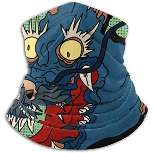 Linger In Halswärmer Comic Art Retro-Stil Brüllender Drachenschal, Vollgesichtsmaske oder Hut, Halsgamasche, Halskappe, Skimaske