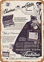 金属記号東芝トランジスタラジオインチレトロな装飾ティンサインバー、カフェ、アート、家の壁の装飾