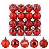 Uten 32 Traje de Bolas de Navidad en Forma de galvanoplastia 6 cm - Rojo