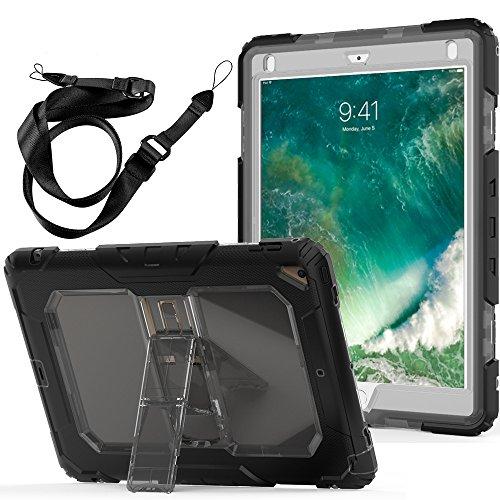FAN SONG Funda para iPad Air 2, Funda Resistente a Prueba de Golpes con función de Soporte y y Correa de Mano para iPad 2018/ Pro 9.7/Pro 9.7(Claro Gris)