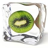 Eurographics DG-AU2102 Glasbild Deco Glass Iced Kiwi 20 x
