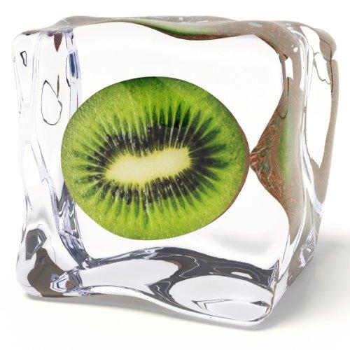 Eurographics DG-AU2102 Glasbild Deco Glass Iced Kiwi  20 x 20 cm