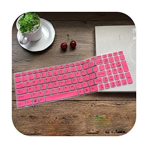 Hopereo 15.6 17.3 Silicone Keyboard Protector Cover Skin for Lenovo Y70-70 300-17 Y50C B70-80 B71-80 V2000 V4000 Y50C G50-70 Z50 N50-Pink-