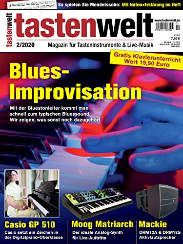 Blues Improvisation Bluestonleiter auf dem Klavier in der tastenwelt