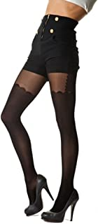 Ladies Fashion Black Striped Patterned Tights 366
