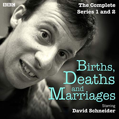 Births, Deaths and Marriages: The Complete Series 1 and 2     The BBC Radio 4 Sitcom              De :                                                                                                                                 David Schneider                               Lu par :                                                                                                                                 David Schneider,                                                                                        full cast,                                                                                        Russell Tovey,                   and others                 Durée : 7 h et 23 min     Pas de notations     Global 0,0
